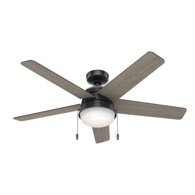 Tarrant 52 in. LED Indoor/Outdoor Matte Black Ceiling Fan with Light Kit