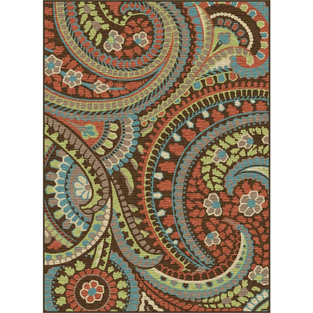 Tayse Rugs Deco Brown 7 ft. 10 in. x 10 ft. 3 in. Transitional Area Rug