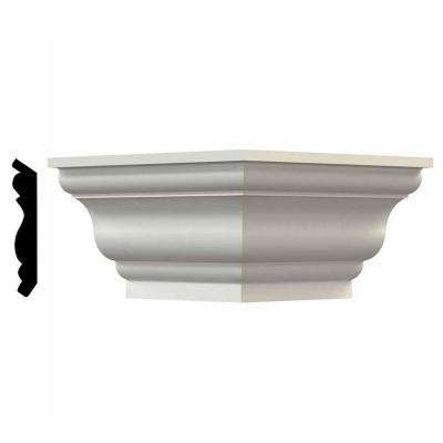 3-1/8 in. x 3-1/2 in. x 3-1/2 in. Polyurethane Queenstown Traditional Smooth Crown Outside Corner Moulding