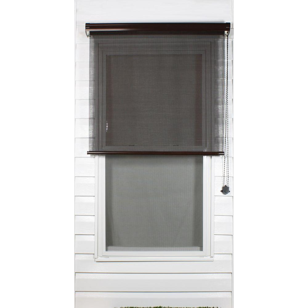 Coolaroo Brown Exterior Roller Shade, 80% UV Block (Price Varies by Size)-DISCONTINUED