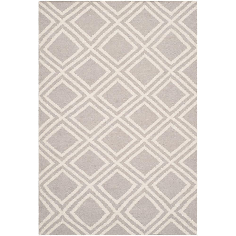 Dhurries Grey/Ivory 4 ft. x 6 ft. Area Rug