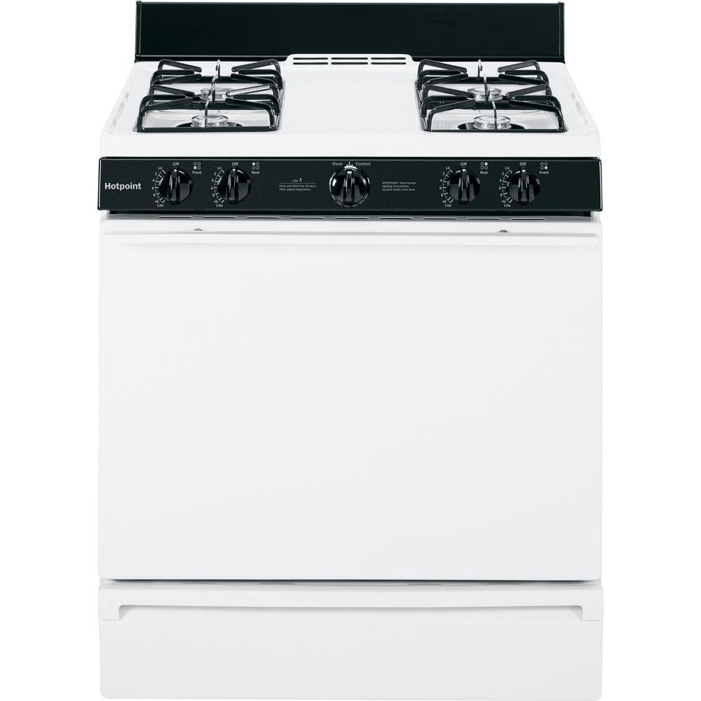 hotpoint 4 8 cu ft gas range in white rgb518pchwh the home depot rh homedepot com hotpoint oven owner's manual rk 746ot2ht hotpoint self cleaning oven owner's manual