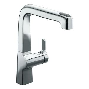 Evoke Single Handle Pull Out Sprayer Kitchen Faucet In Polished Chrome