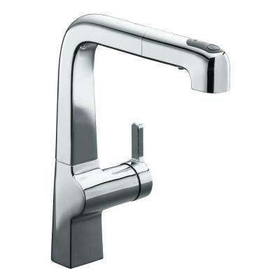 Evoke Single-Handle Pull-Out Sprayer Kitchen Faucet in Polished Chrome
