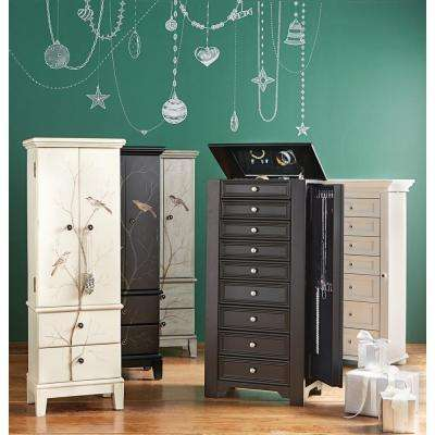 Chirp Black Jewelry Armoire