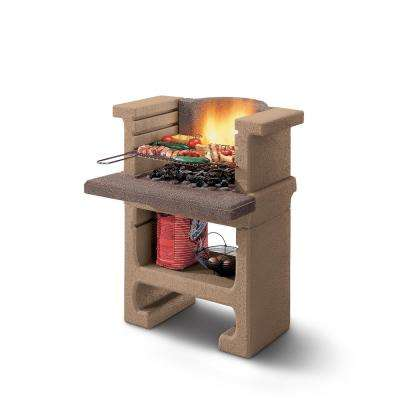 Palazzetti Bajkal MB Charcoal Outdoor Pedestal Grill in Natural
