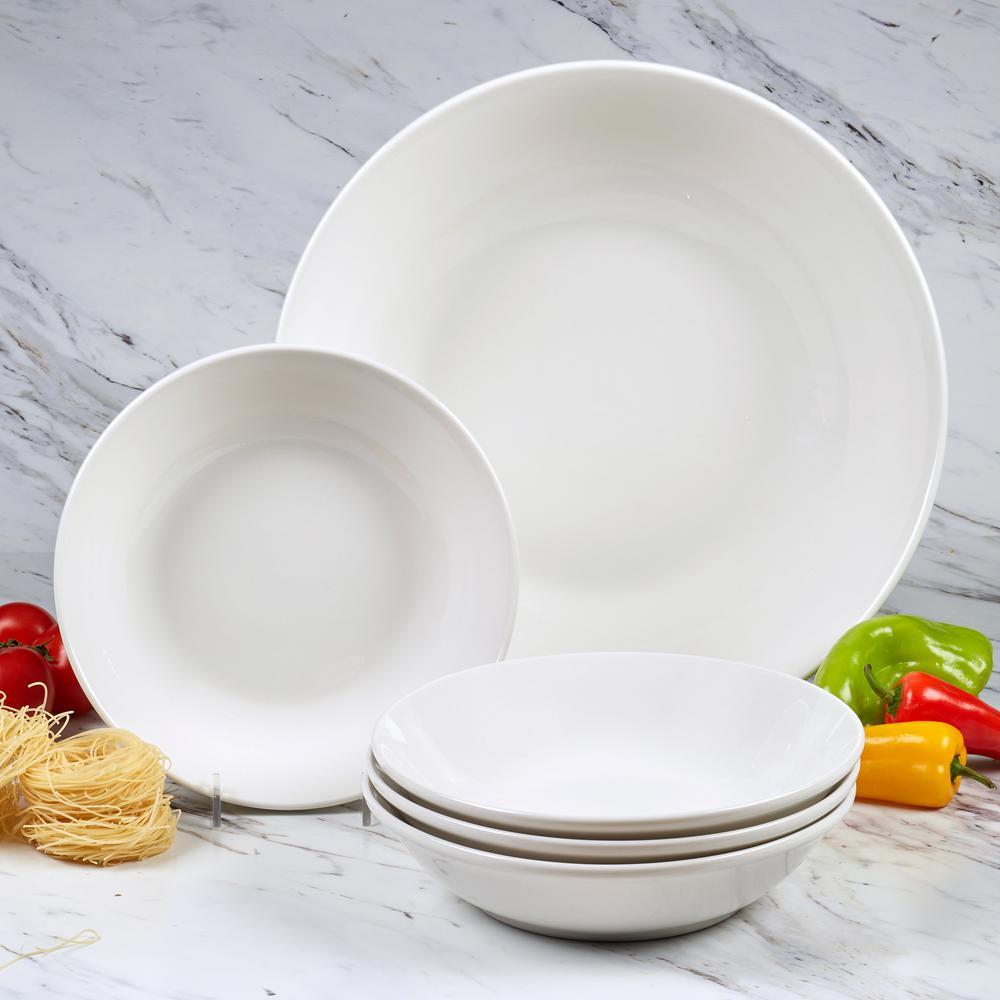Certified International Bianca White Pasta Bowls (Set of 5) 89655