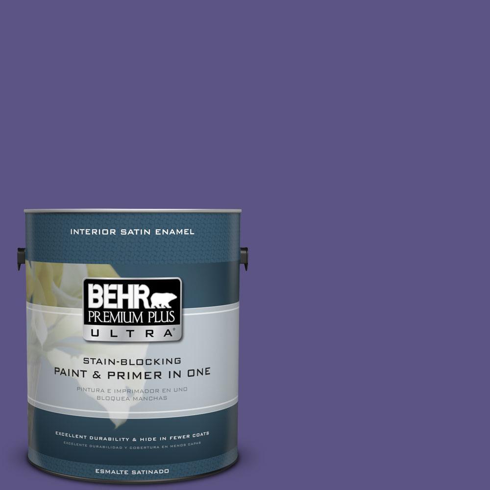 BEHR Premium Plus Ultra 1-Gal. #PPU16-1 Aurora Splendor Satin Enamel Interior Paint