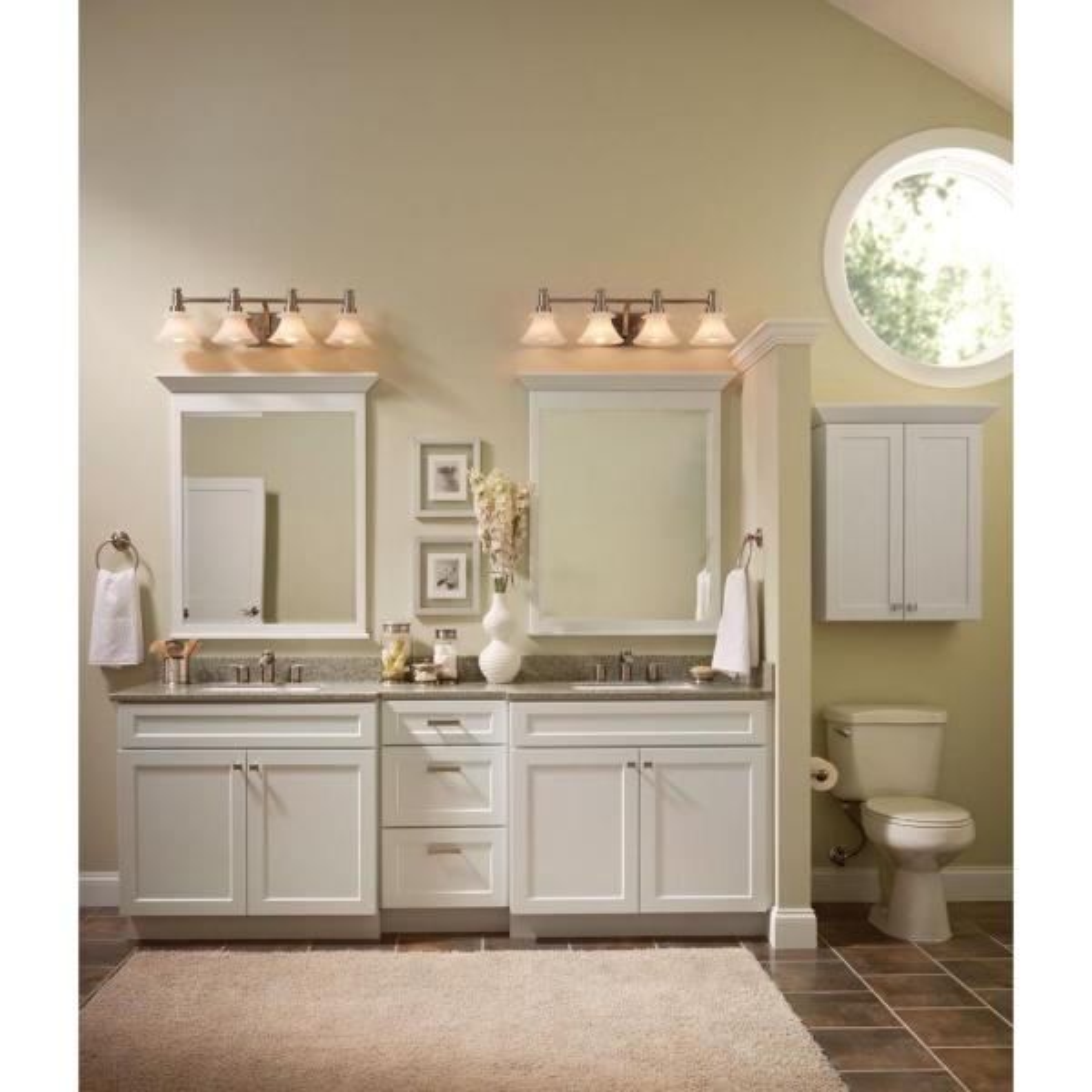 Cabinet Door Sample In White Theril, Kitchen Cabinet Sizes Kraftmaid