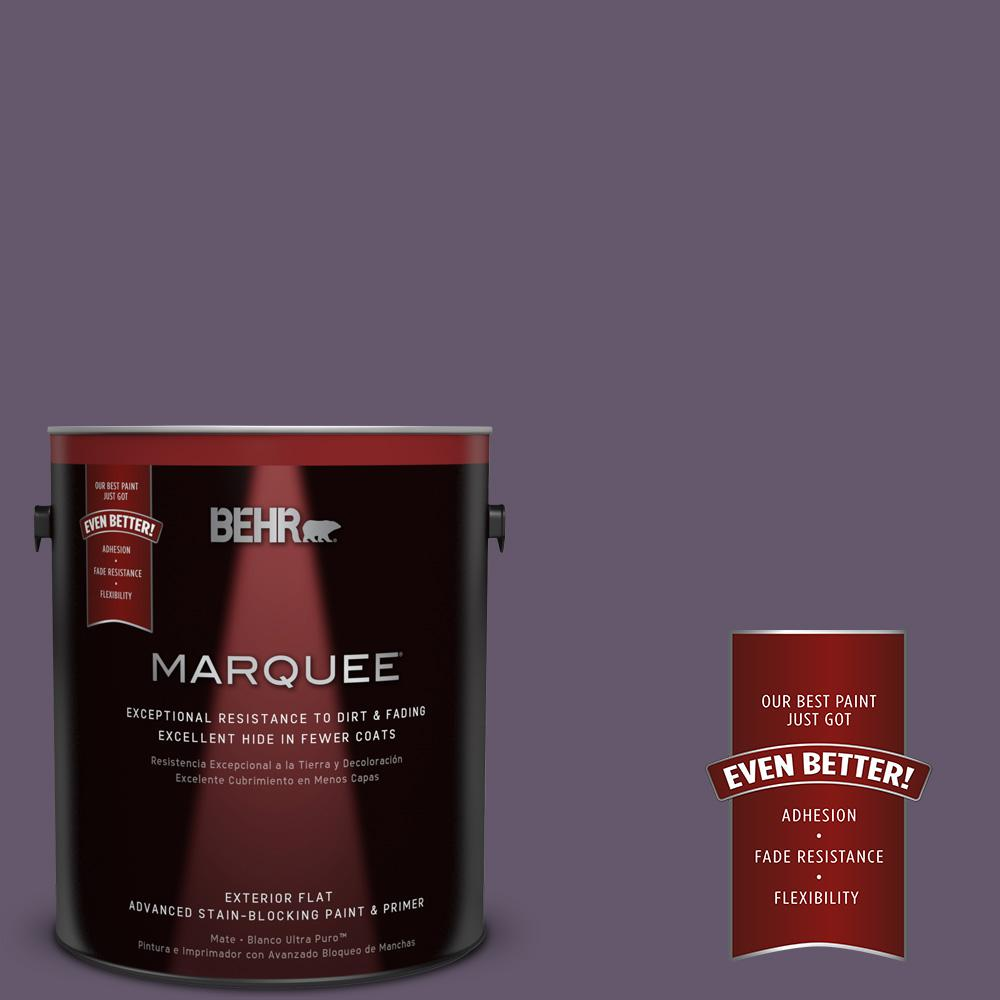 BEHR MARQUEE 1-gal. #PPU17-4 Darkest Grape Flat Exterior Paint