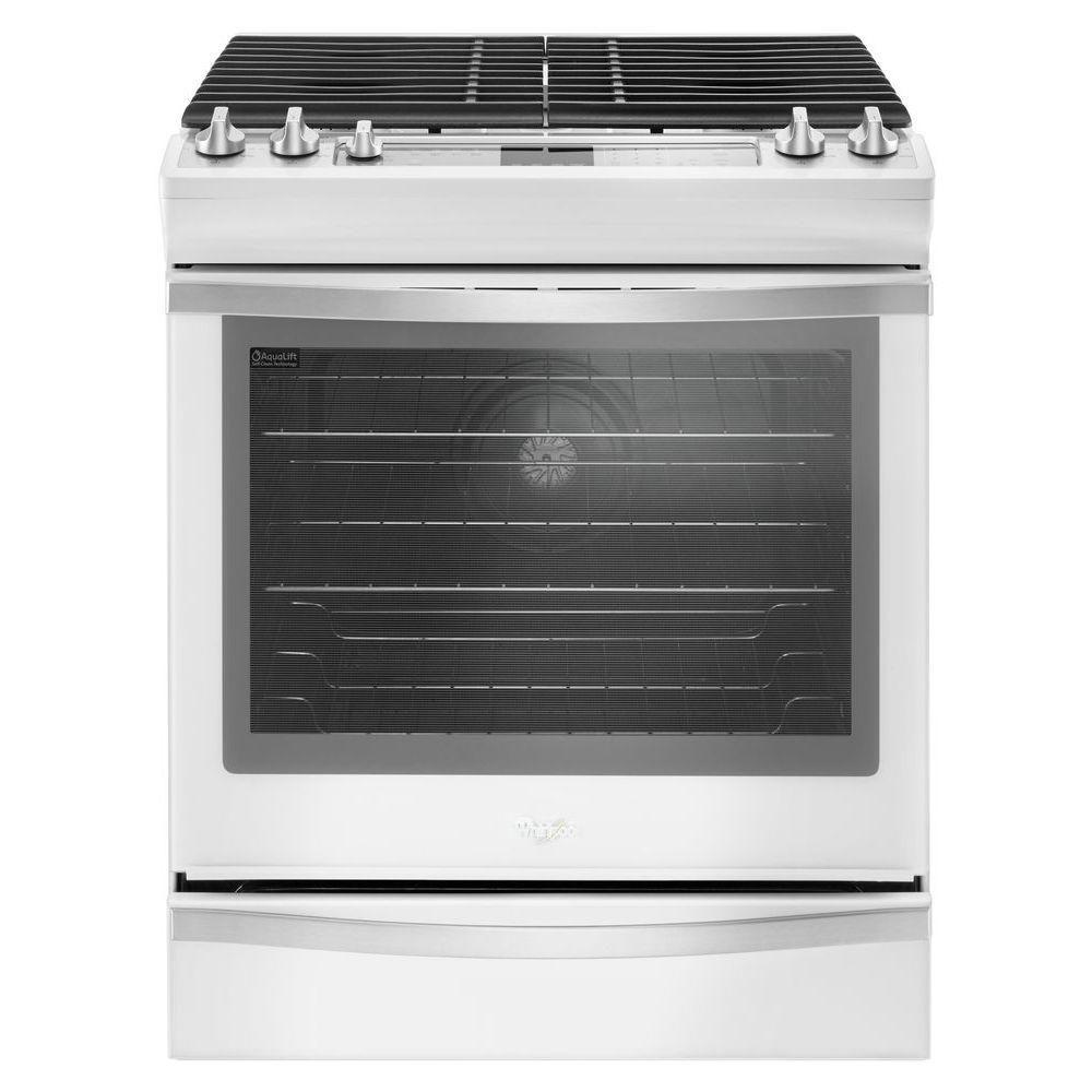 Whirlpool 5 8 Cu Ft Slide In Gas Range With Center Oval Burner