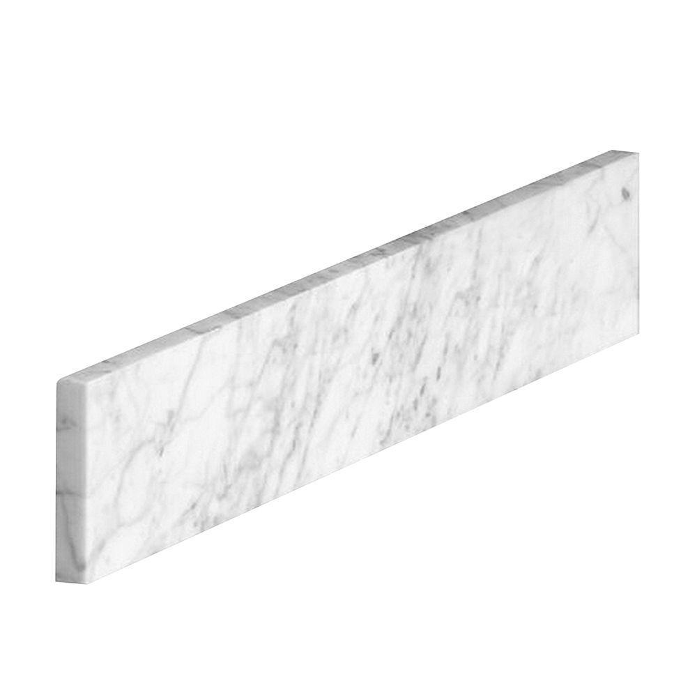 18 in. Marble Sidesplash in Carrara