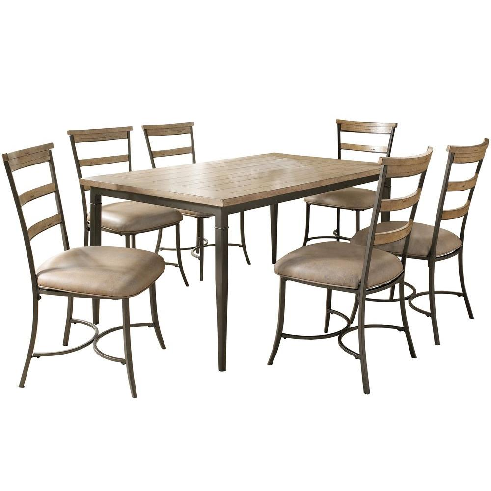 Hillsdale Furniture Charleston 5-Piece Desert Tan Ladder Back Dining Set-DISCONTINUED
