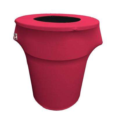 Stretch Spandex Trash Can Cover 44 Gal. Round in Fuchsia