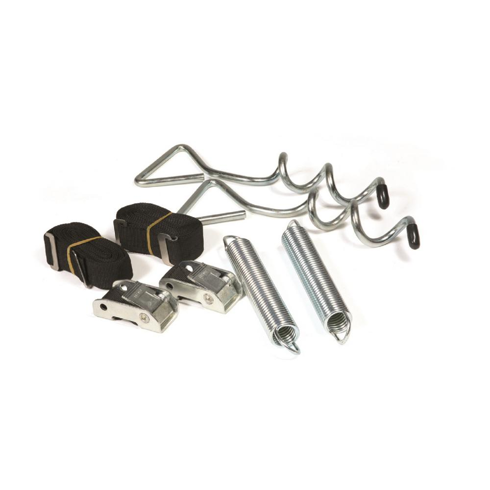 Camco Rv Awning Anchor Kit With Pull Tension Straps 42593 The Home Depot