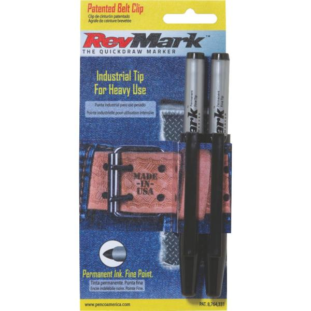 Permanent Black Ink Marker (2-Pack)