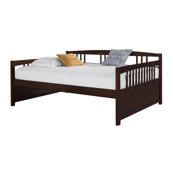 Dorel Living Morgan Espresso Full Size Daybed Fa6312e The Home Depot