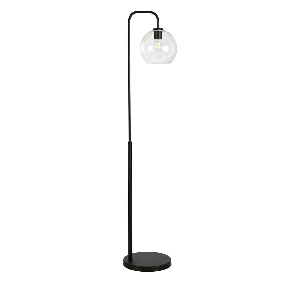 Harrison 62-1/2 in. Arc Blackened Bronze Floor Lamp
