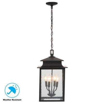 Sutton Collection 4 Light Rust Outdoor Hanging Lantern