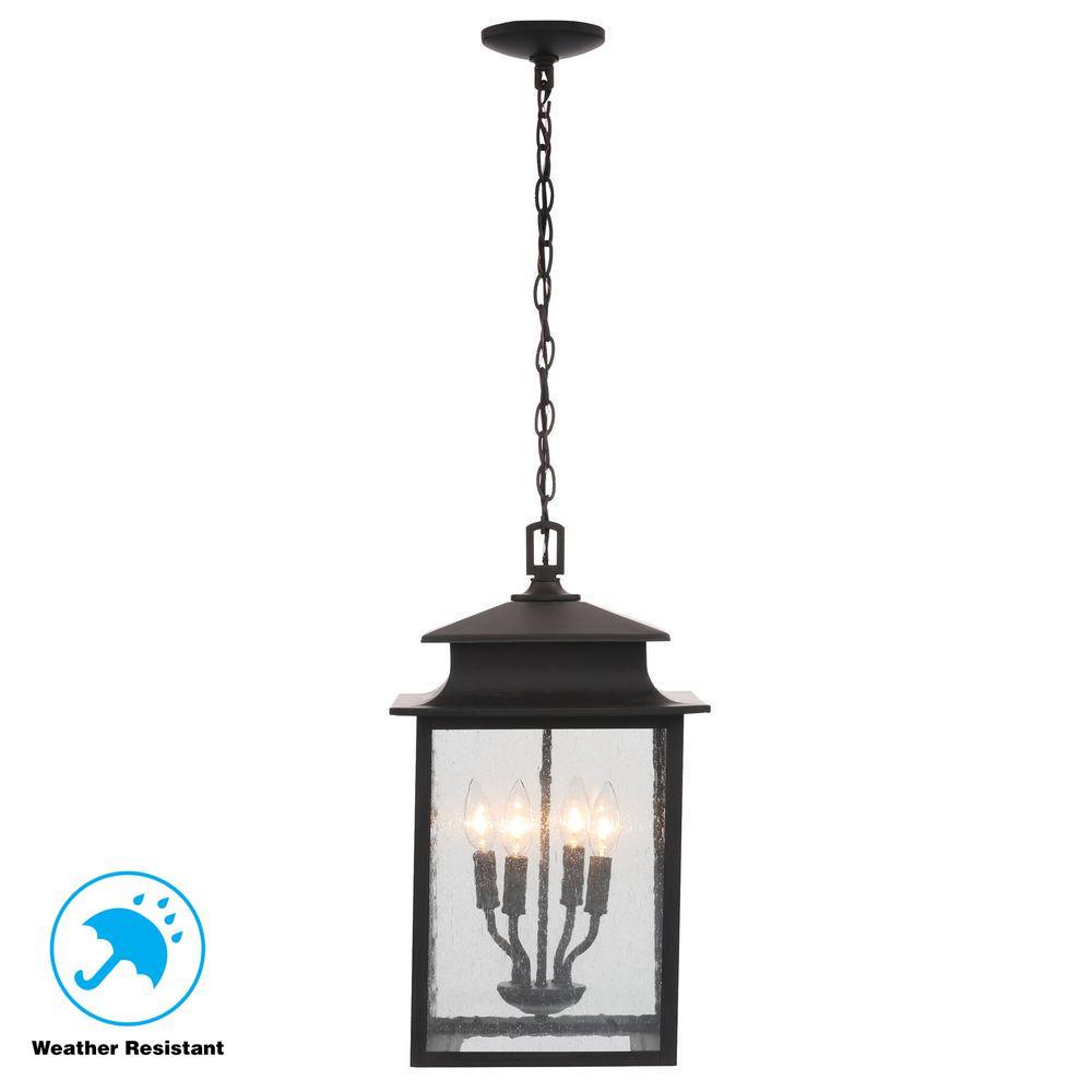 Sutton Collection 4-Light Rust Outdoor Hanging Lantern