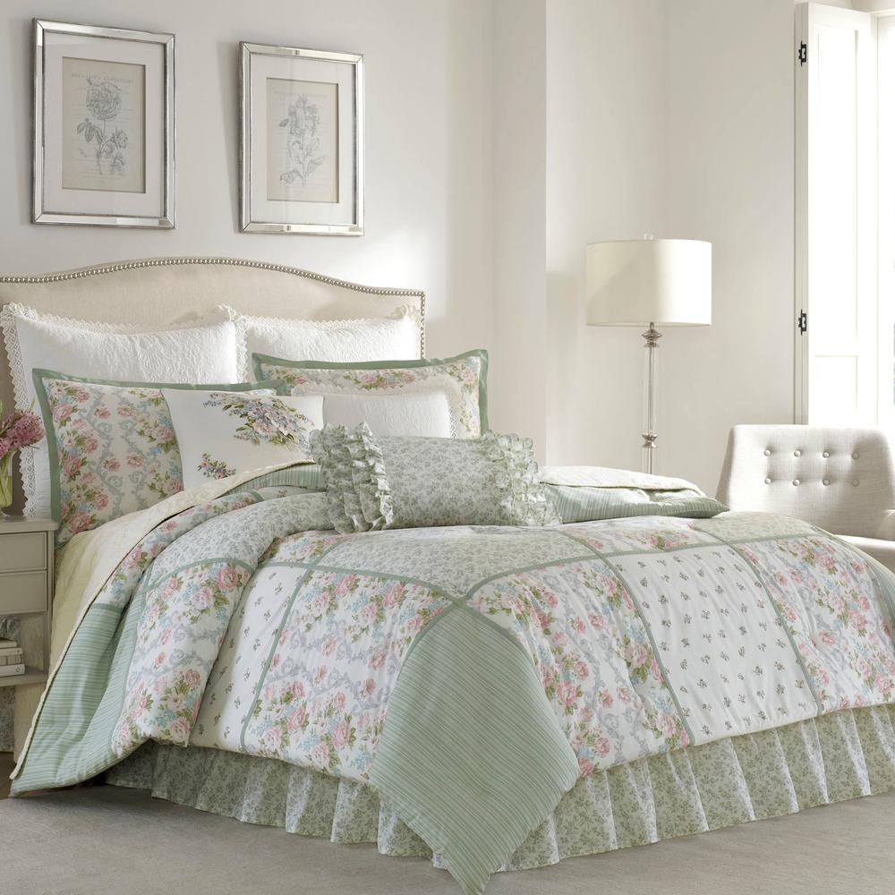 Harper 4-Piece Jade Green Queen Comforter Set