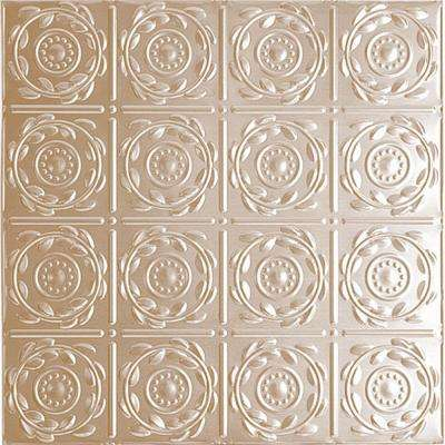 2 ft. x 4 ft. Nail-up/Direct Application Tin Ceiling Tile in Satin Brass (24 sq. ft. / case)