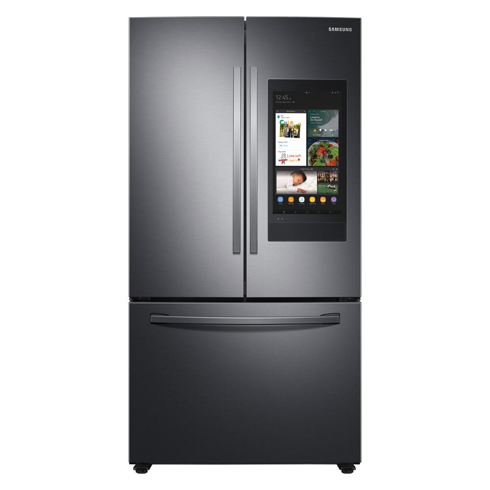 Samsung 27.7 cu. ft. French Door Refrigerator in Black Stainless Steel with Family Hub