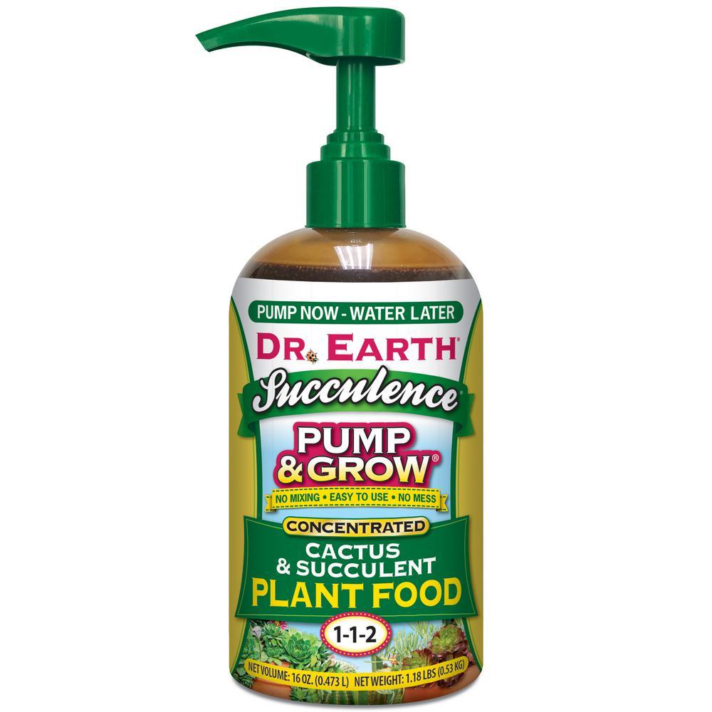16 oz. Organic and Natural Pump and Grow Succulence and Cactus Food