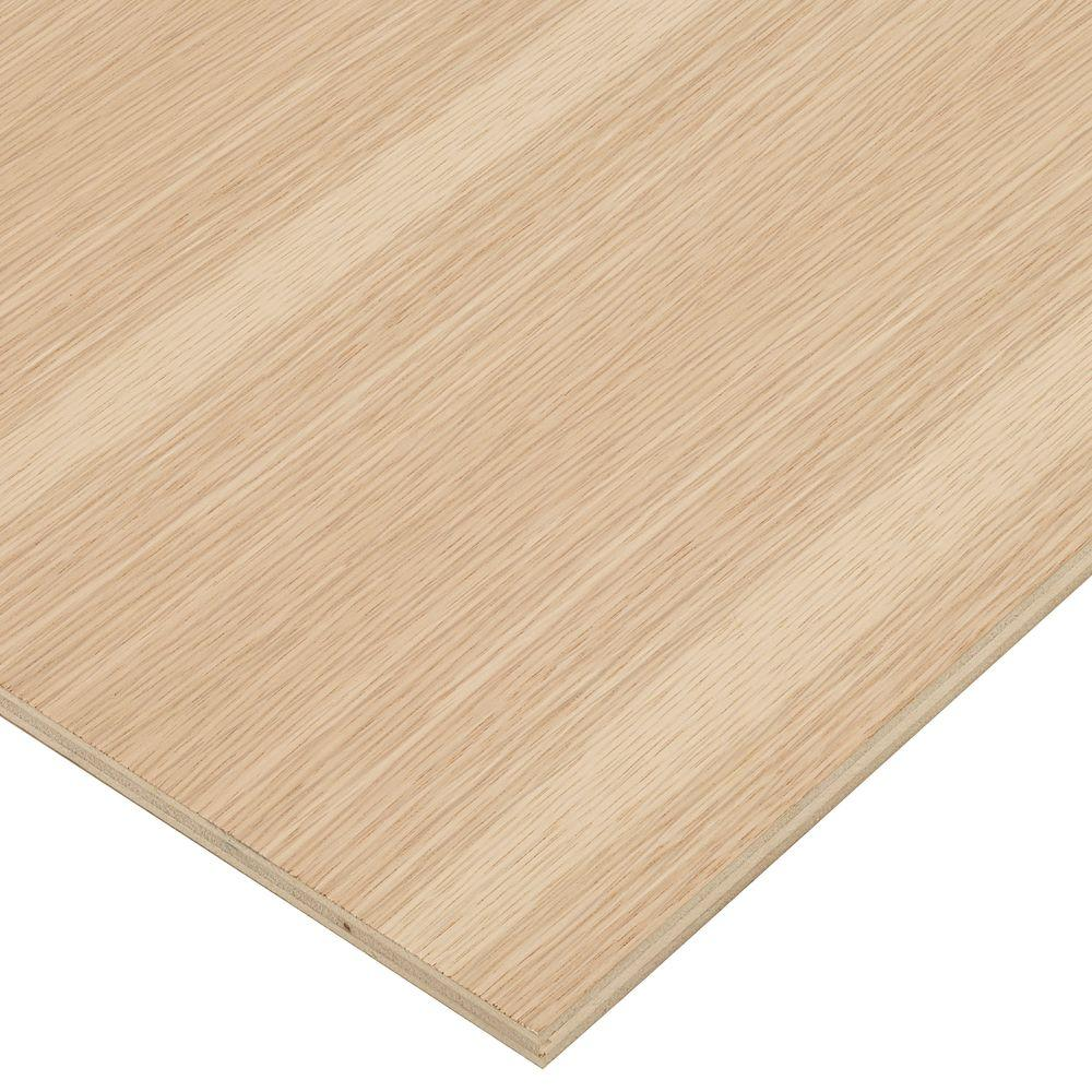 Columbia Forest Products 1/2 in. x 2 ft. x 8 ft. PureBond White Oak Plywood Project Panel (Free Custom Cut Available)