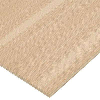 1/2 in. x 2 ft. x 8 ft. PureBond White Oak Plywood Project Panel (Free Custom Cut Available)