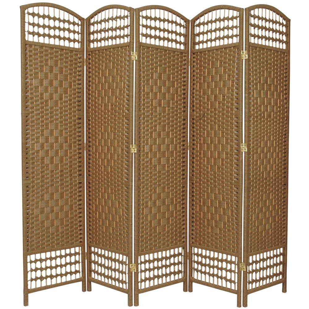 6 ft Natural 5 Panel Room Divider FB DMND NAT 5P The Home Depot