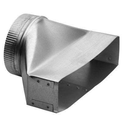 3-1/4 in. x 14 in. to 7 in. Round Galvanized Steel Duct Transition
