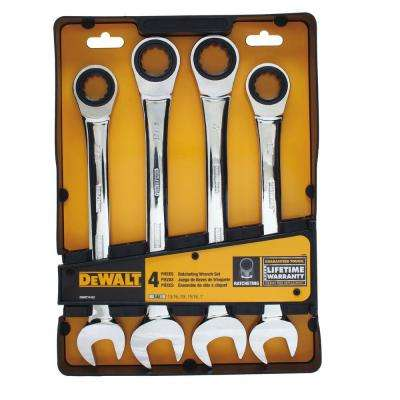 Ratcheting Combination SAE Wrench Set (4-Piece)