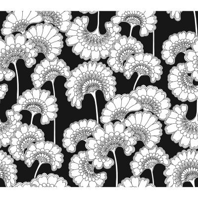 60.75 sq. ft. Japanese Floral Wallpaper