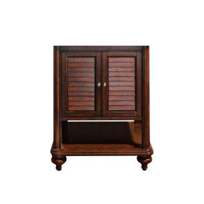 Tropica 24 in. W x 21 in. D x 34 in. H Vanity Cabinet Only in Antique Brown