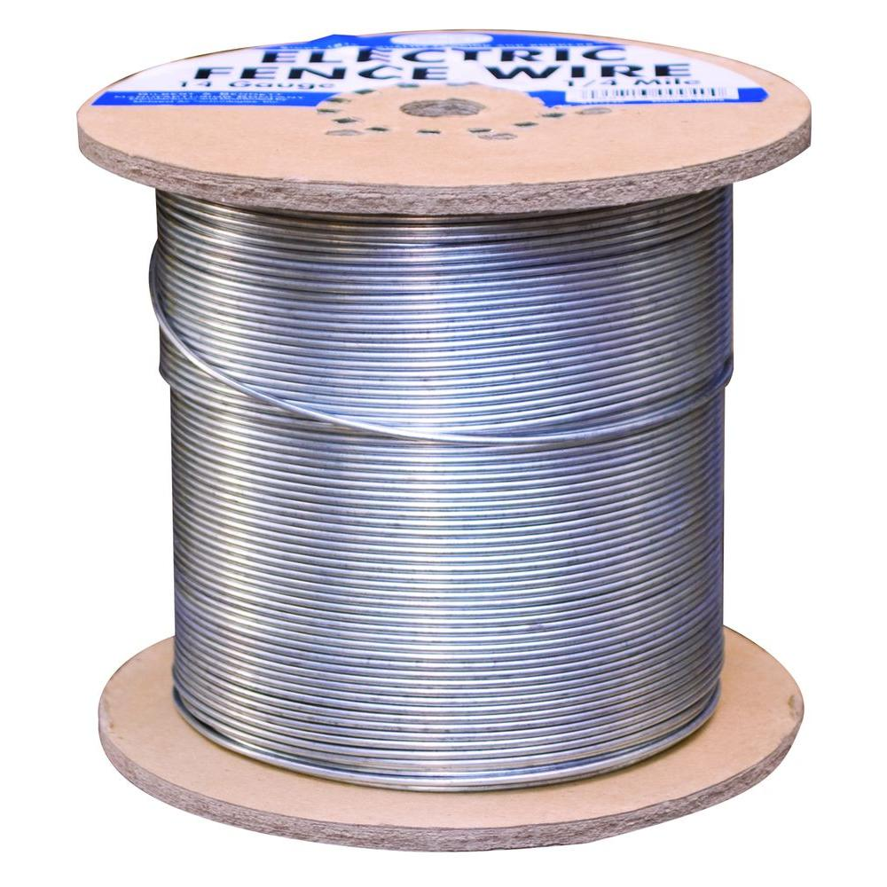 White Lightning 1320 ft. 12.5-Gauge White Safety Coated High Tensile ...