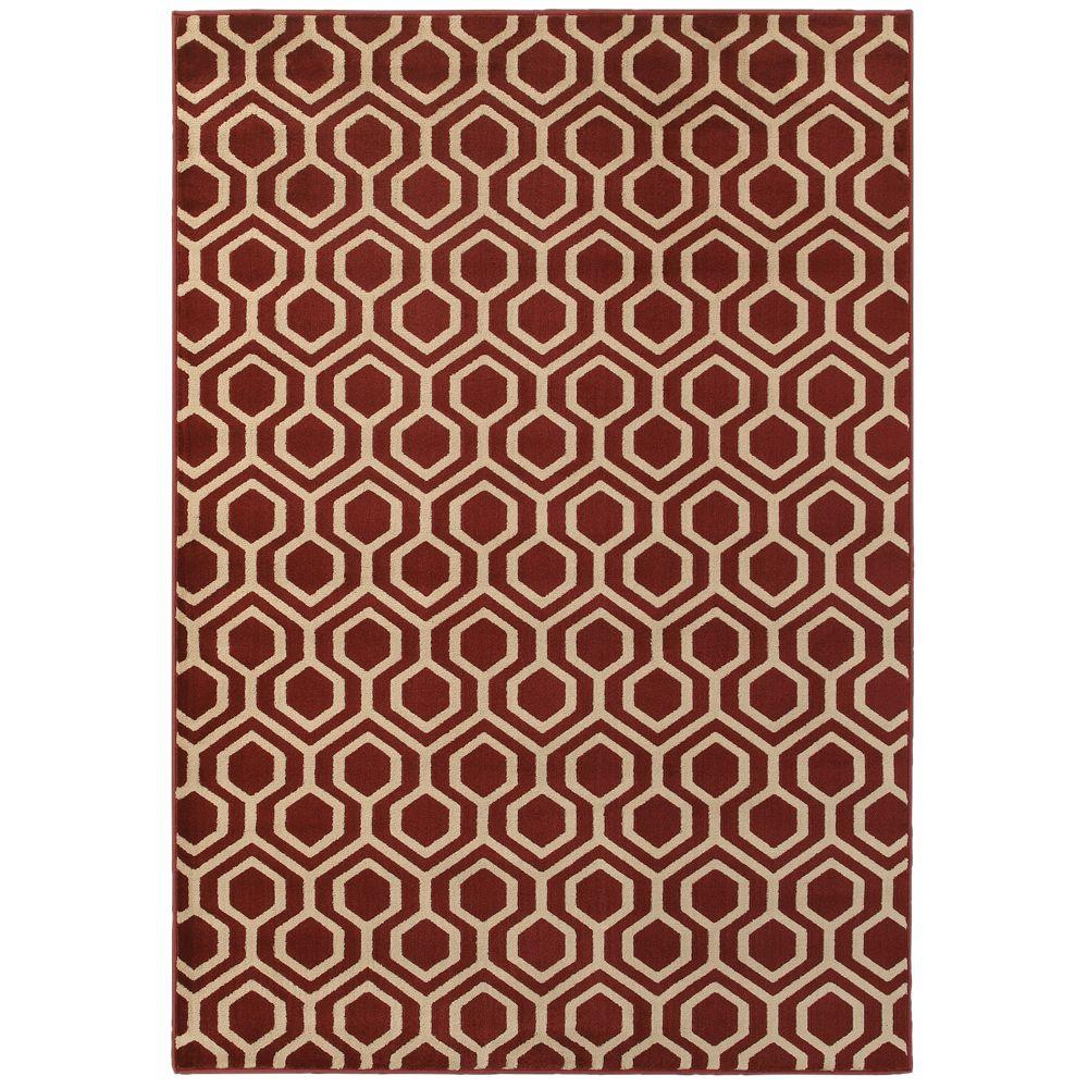 Langley Geo Red 7 ft. 10 in. x 10 ft. Area