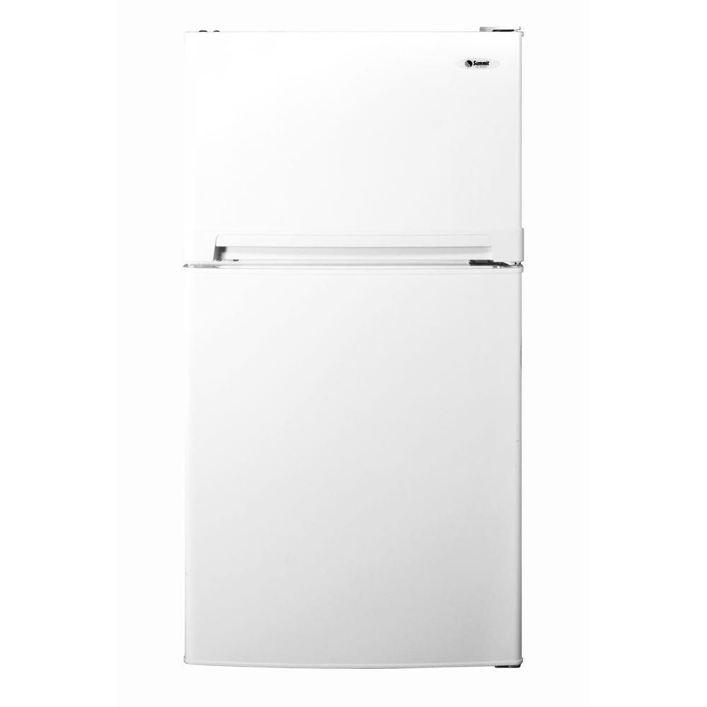 Summit Appliance 8.1 cu. ft. Top Freezer Refrigerator in White-DISCONTINUED