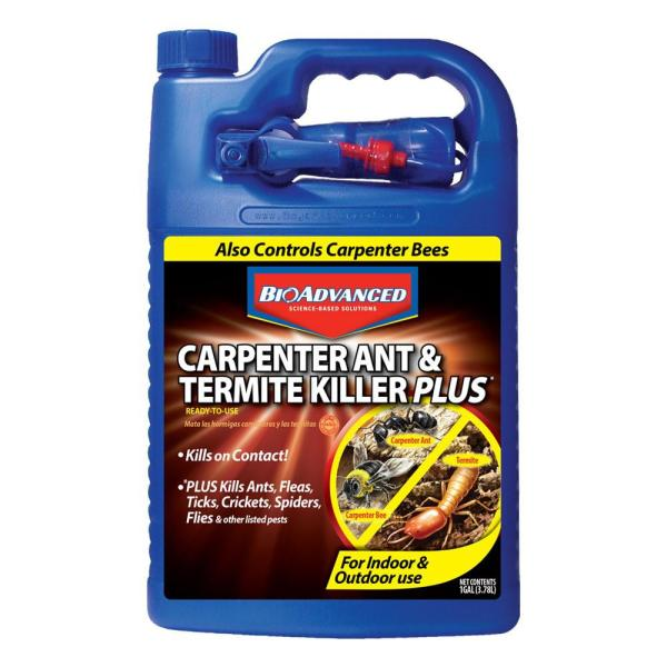 Bioadvanced 1 Gal Ready To Use Carpenter Ant And Termite Killer Plus 700332 The Home Depot