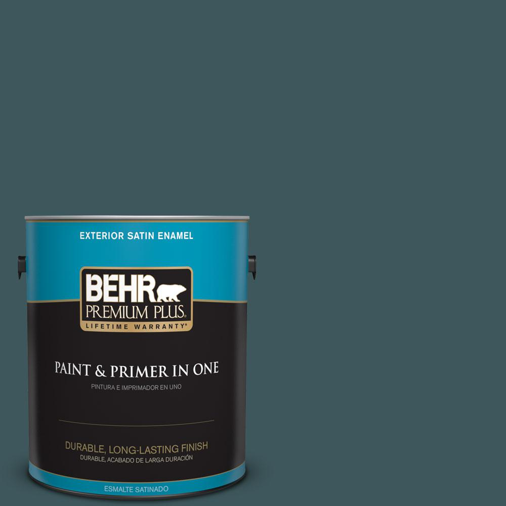 1-gal. #510F-7 Teal Forest Satin Enamel Exterior Paint