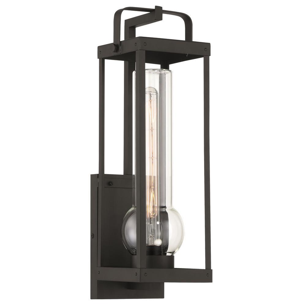 Sullivans Landing 1-Light Sand Coal Outdoor Wall Lantern