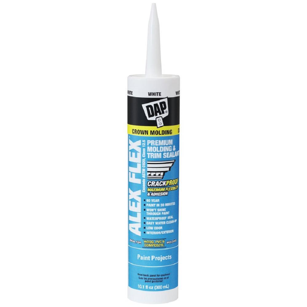 DAP Alex Flex 10 1 oz  White Premium Molding and Trim Sealant