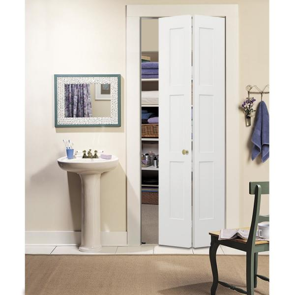 Jeld Wen 24 In X 96 In Birkdale White Paint Smooth Hollow Core Molded Composite Interior Closet Bi Fold Door Thdjw235300060 The Home Depot