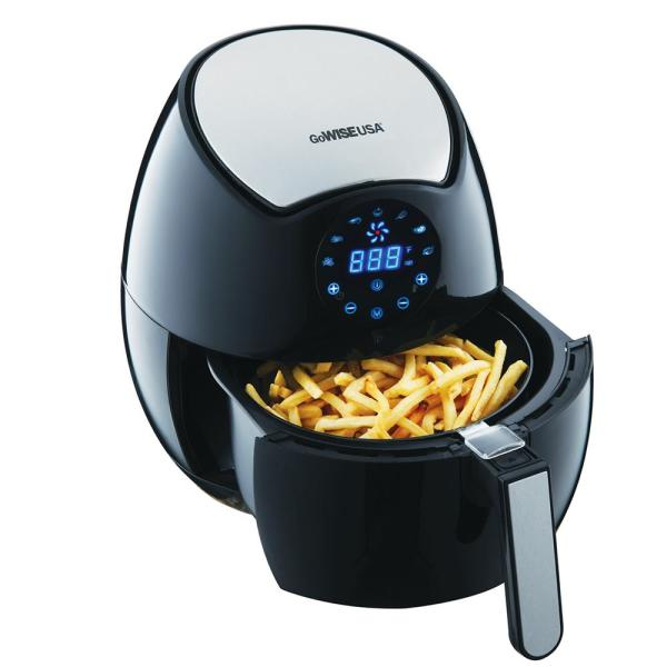 Gowise Usa 3 7 Qt Digital Touchscreen Air Fryer With Recipe Book Gw22621 The Home Depot