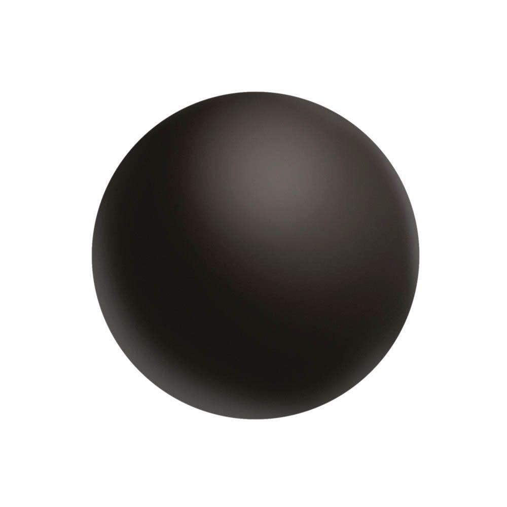 Everbilt #2 Flat-Head Phillips Black Screw Covers (24-Pack)