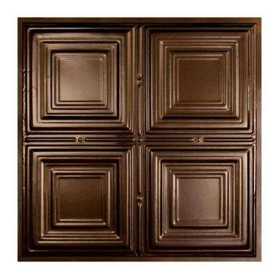 Syracuse 2 ft. x 2 ft. Lay-in Tin Ceiling Tile in Bronze Burst
