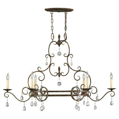 Chateau 6-Light Mocha Bronze Single Tier Chandelier