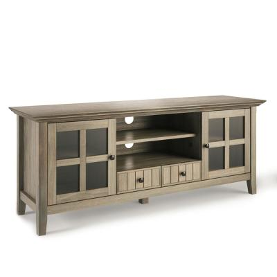 Acadian 60 in. Distressed Grey Composite TV Stand with 2 Drawer Fits TVs Up to 66 in. with Storage Doors