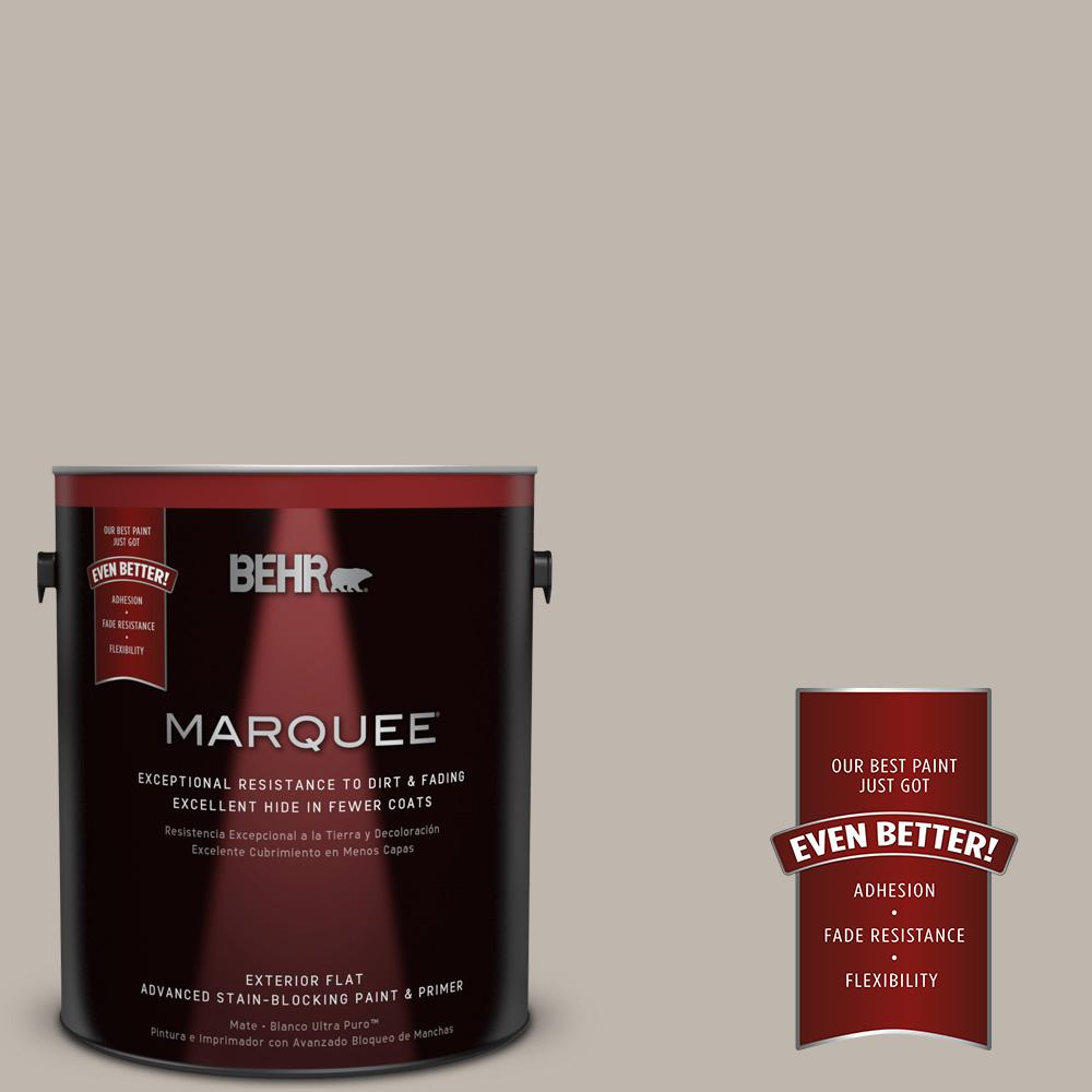 BEHR MARQUEE Home Decorators Collection 1-gal. #HDC-CT-21 Grey Mist Flat Exterior Paint