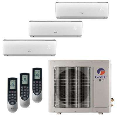 Multi-21 Zone 34000 BTU 3.0 Ton Ductless Mini Split Air Conditioner with Heat, Inverter, Remote -230Volt/60Hz